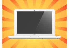Weißer Laptop vektor
