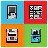 Retro-Game-Spieler vektor