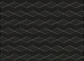 Zusammenfassung der Goldgeometrischen Linie formt Muster