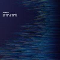 Abstrakta futuristiska teknikgradient färgglada blå linjer