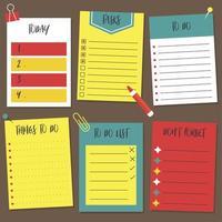Zurück in die Schule, um Liste Notiz zu tun