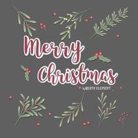 uppsättning julkrans vektor