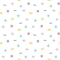 Nahtloses Muster der mathematischen Symbole vektor