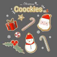 Färgade julkakoruppsättning