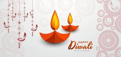 Diya Lampe und Rangoli Banner