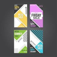 Instagram Story Collection für E-Commerce-Site vektor