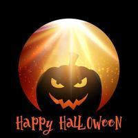 Halloween-Hintergrund mit gespenstischem Kürbis vektor