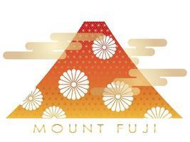 Mt. Fuji under höstsäsongen vektor