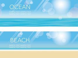 Uppsättning av två sömlös strandbakgrund vektor