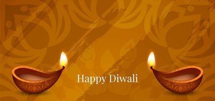 Einfacher abstrakter glücklicher Diwali-Gruß vektor
