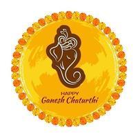 Ganesh Chaturthi dekorativ festlig cirkulär bakgrund vektor