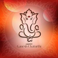 Ljus röd Ganesh Chaturthi bakgrund vektor
