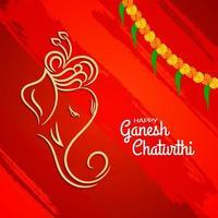 Ganesh Chaturthi ljust röd abstrakt bakgrund vektor