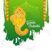 Ganesh Chaturthi grön bakgrund vektor