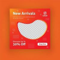 Nya ankomster sociala medier post mall vektor