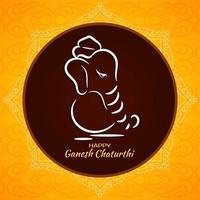 Einfacher Kreis-Ganesh Chaturthi-Festivalhintergrund vektor