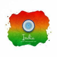 Indische Aquarell Flagge Hintergrund
