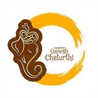 Einfacher Farbenspritzen Ganesh Chaturthi-Hintergrund vektor