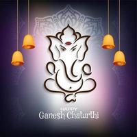 Purpurfärgad glödande Ganesh Chaturthi bakgrund vektor