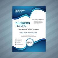 Business flyers våg mall vektor