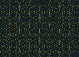 Abstrakt enkel minimal guldfärgad sexkantmönster vektor