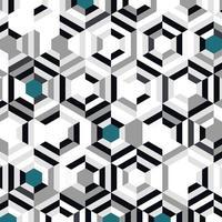 Abstrakte graue schwarze Steigung mit blauem Hexagonmuster vektor