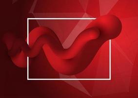 Rote flüssige Formen der Art 3d