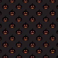 Halloween-Kürbismusterhintergrund vektor