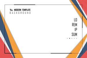 Abstrakt modern färgrik papperseffektrambakgrund vektor
