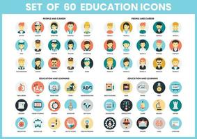 Uppsättning av utbildning ikoner
