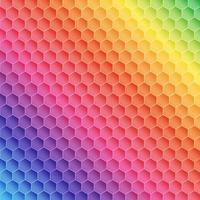 Regenbogenhexagon-Musterentwurf
