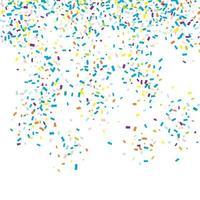 Fallande konfettibakgrund vektor