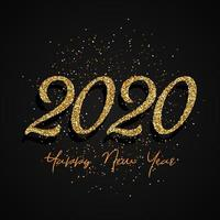 Glitter 2020 frohes neues Design