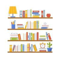 Bücherregal voller Bücher vektor