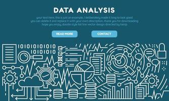 Flache Landing Page für die Datenanalyse