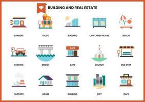 Byggande ikoner för företag