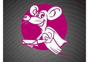 Lächelndes Rattenlogo vektor