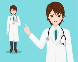 Ung manlig läkare vektor