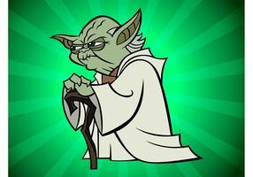 Yoda karikatur vektor