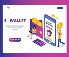 E-Wallet-Landingpage isometrisch