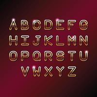 Guld VIP bokstäver alfabetet