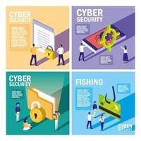ställa ikoner för cybersäkerhet