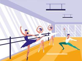 Ballett Schule Szene Symbol