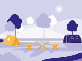 leerer Campingplatz vektor