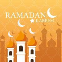 Ramadan Kareem Moschee Gebäude traditionell