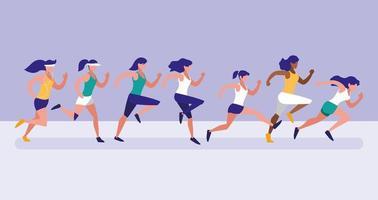kvinnliga idrottare kör avatar karaktär