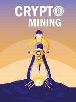 bitcoins för gruvdrift för arbetare