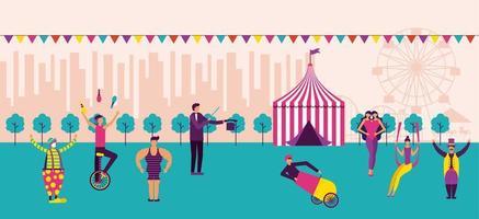 Karneval und Zirkusszene