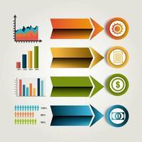 Weltverbindungen und Geschäft Infografik vektor