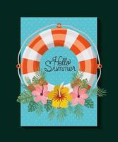 Blommig Hello Summer Card